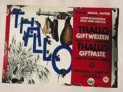 Werbeschild für das Rattengift Thallium