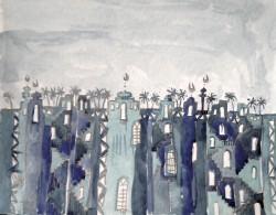 Rima Al Juburi Zeichnung Die Stadt