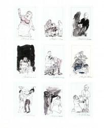 9 Zeichnungen zu Die sanfte Rache